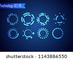set of circle abstract digital... | Shutterstock .eps vector #1143886550