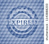 expired blue emblem or badge... | Shutterstock .eps vector #1143888203