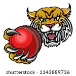 a wildcat angry animal sports... | Shutterstock .eps vector #1143889736