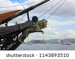 Lion Figurehead At The Prow Of...