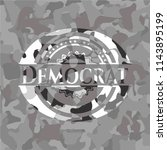 democrat on grey camo pattern | Shutterstock .eps vector #1143895199