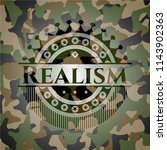 realism on camouflage pattern | Shutterstock .eps vector #1143902363