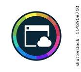 cloud browsing   app icon | Shutterstock .eps vector #1143906710