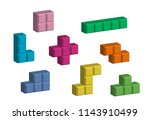 colorful falling blocks video... | Shutterstock .eps vector #1143910499