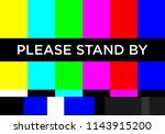 no tv signal chanel program... | Shutterstock .eps vector #1143915200