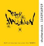 happy halloween   hand drawn...   Shutterstock .eps vector #1143916919