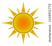 sun icon with jags as vector on ... | Shutterstock .eps vector #1143921773