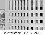 modern office building wall... | Shutterstock . vector #1143922616