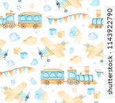 watercolor seamless pattern...   Shutterstock . vector #1143922790
