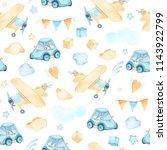 watercolor seamless pattern...   Shutterstock . vector #1143922799