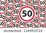50 years old anniversary... | Shutterstock . vector #1143923723