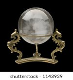 crystal ball isolated on black | Shutterstock . vector #1143929