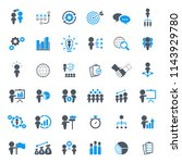 business strategy icons set. | Shutterstock .eps vector #1143929780