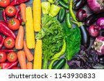 a tabletop arrangement of a... | Shutterstock . vector #1143930833