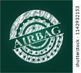 airbag chalk emblem | Shutterstock .eps vector #1143932153