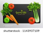 realistic vector vegetables... | Shutterstock .eps vector #1143937109