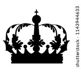 vector crown silhouette in... | Shutterstock .eps vector #1143944633