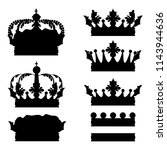 big collection of vector crown... | Shutterstock .eps vector #1143944636