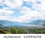 lake lut tawar takengon  aceh ... | Shutterstock . vector #1143946256