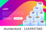 lgbt concept with isometric... | Shutterstock .eps vector #1143947360