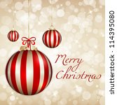elegant and light merry...   Shutterstock .eps vector #114395080