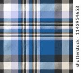 plaid pattern in blue  black ... | Shutterstock .eps vector #1143954653