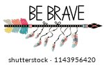 native american accessory with... | Shutterstock .eps vector #1143956420