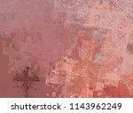 contemporary art. hand made art.... | Shutterstock . vector #1143962249