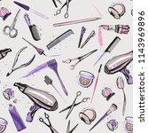 seamless pattern for beauty... | Shutterstock .eps vector #1143969896