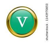 letter v lowercase letter... | Shutterstock .eps vector #1143970853