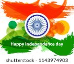 happy indian independence day... | Shutterstock .eps vector #1143974903