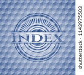 index blue emblem or badge with ... | Shutterstock .eps vector #1143975503