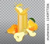 pears. pears still life. piece... | Shutterstock .eps vector #1143977336