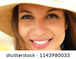 extreme close up of young model ... | Shutterstock . vector #1143980033