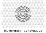 genuine realistic grey emblem... | Shutterstock .eps vector #1143983723