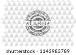 land grey badge with geometric... | Shutterstock .eps vector #1143983789