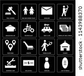 set of 16 icons such as loaf of ...