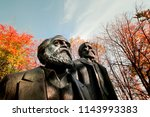 Small photo of Berlin, Germany - November 2017: Statues of Marx and Engels