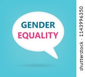 gender equality written on... | Shutterstock .eps vector #1143996350