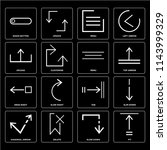 set of 16 icons such as fit ...