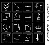 set of 16 icons such as down ...