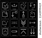 set of 16 icons such as bottom...