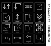 set of 16 icons such as shrink  ...