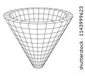 wireframe mesh funnel....   Shutterstock . vector #1143999623