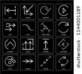 set of 16 icons such as spin ...