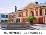 drama theatre at the center of... | Shutterstock . vector #1144008866