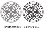 celtic vector round ornament.... | Shutterstock .eps vector #114401113