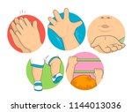 illustration of toddler kid... | Shutterstock .eps vector #1144013036