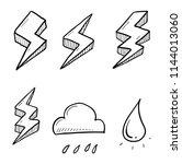 thunder hand drawn | Shutterstock .eps vector #1144013060