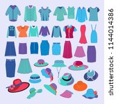 set with different fashion... | Shutterstock .eps vector #1144014386